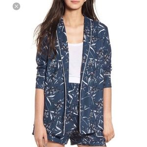 Leith Navy Floral Blazer - Size M
